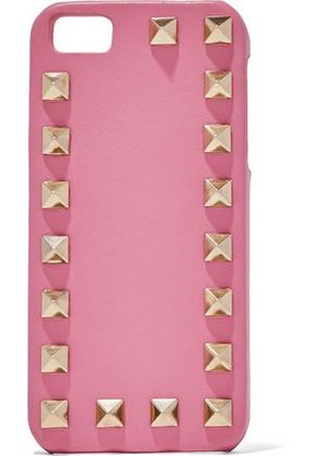 Valentino Woman Rockstud Leather Iphone 6 Plus Case Pink Size -