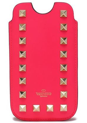 Valentino Woman Rockstud Leather Iphone 5/5s/se Case Bright Pink Size -