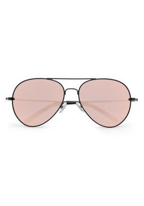 Matthew Williamson Woman Aviator-style Acetate And Metal Mirrored Sunglasses Black Size -