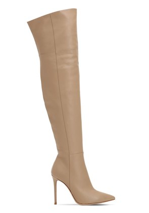 100MM OVER THE KNEE NAPPA LEATHER BOOTS