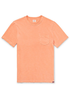 Slim-fit Garment-dyed Slub Cotton-jersey T-shirt