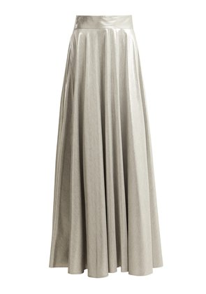 Metallic long skirt