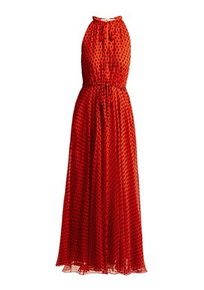 Baker polka-dot silk-crepe dress