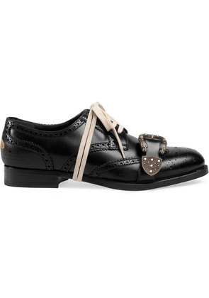 Gucci Queercore brogue shoes - Black
