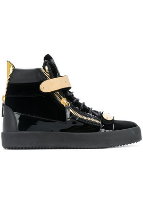 Giuseppe Zanotti Design Archer velvet hi-top sneakers - Black