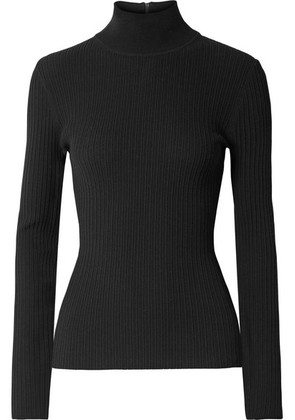 Michael Kors Collection - Ribbed Stretch-knit Turtleneck Sweater - Black