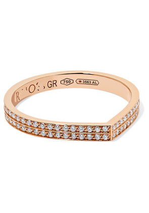 Repossi - Antifer 18-karat Rose Gold Diamond Ring - 54