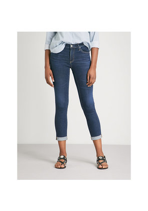 Prima roll-up cigarette-fit high-rise jeans
