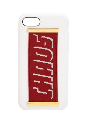 LOGO STRAP LEATHER IPHONE 7/8 PLUS COVER