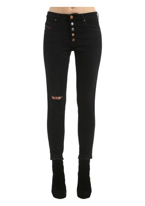 SKINNY HIGH WAIST COTTON DENIM JEANS