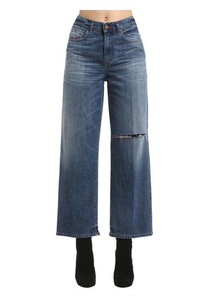 HIGH WAIST STRAIGHT LEG DENIM JEANS
