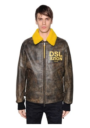 NOIZE LEATHER AVIATOR JACKET