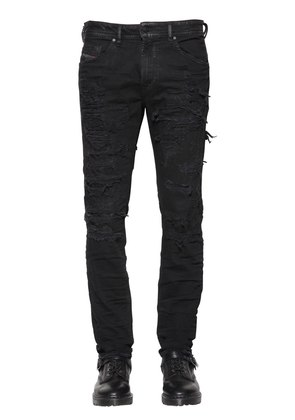 18CM THOMMER LEATHER LINING DENIM JEANS