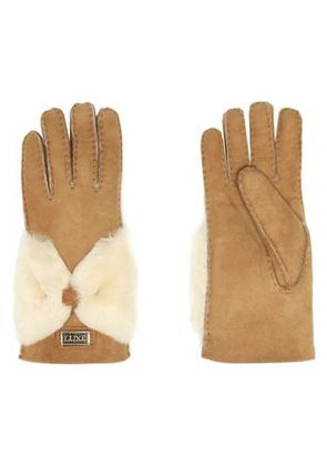 Australia Luxe Collective Woman Shearling Gloves Camel Size M