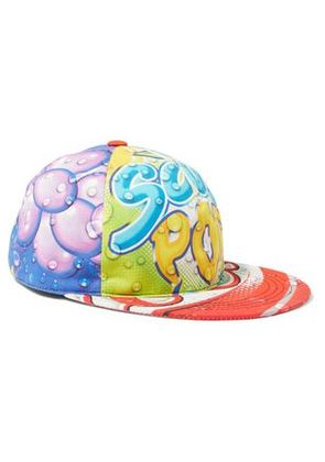 Moschino Woman Printed Twill Cap Multicolor Size M