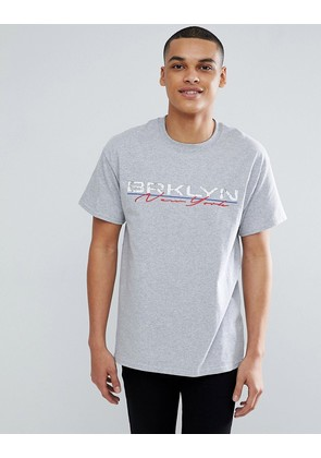 New Look T-Shirt With New York Print In Grey - Grey