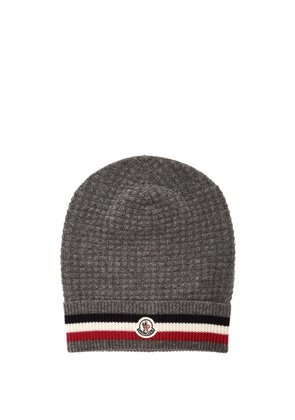 Striped wool and cashmere-blend beanie