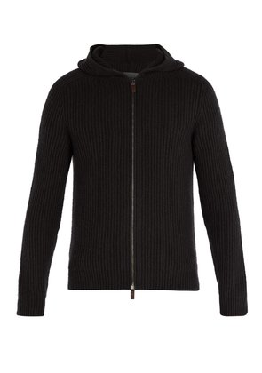 Lyonel zip-through hooded cashmere sweater