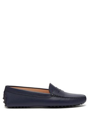 Gommino saffiano-leather loafers