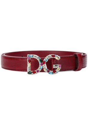 Dolce & Gabbana logo belt - Pink & Purple