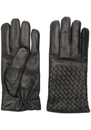 Bottega Veneta leather gloves - Black