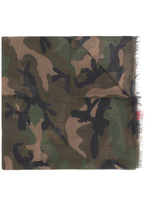 Valentino striped camouflage scarf - Multicolour