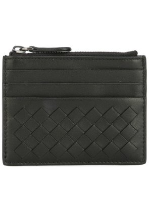 Bottega Veneta nero Intrecciato nappa card case - Black