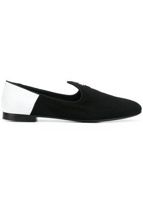 Giuseppe Zanotti Design leather trim loafers - Black