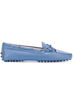 Tod's front bow loafers - Blue