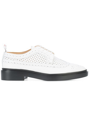 Thom Browne perforated allover brogues - White