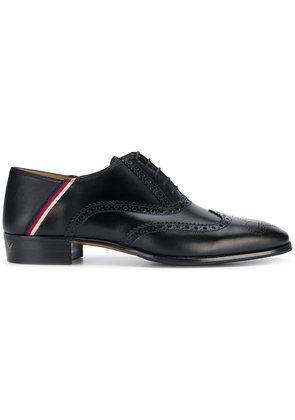 Gucci Sylvie Web brogues - Black