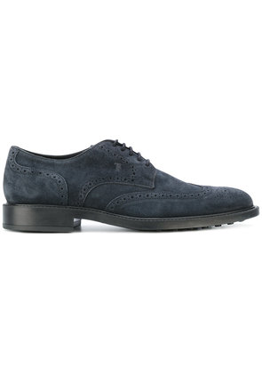 Tod's casual brogue shoes - Blue