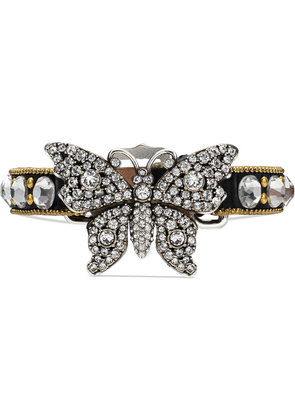 Gucci Crystal studded butterfly bracelet - Black