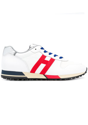 Hogan panelled sneakers - White