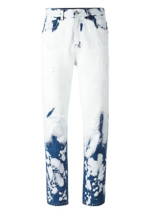 Gucci hand bleached relaxed-fit jeans - White