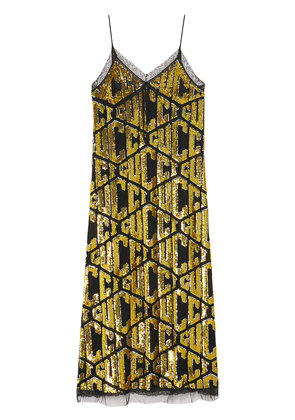 Gucci Gucci game sequins slip dress - Metallic