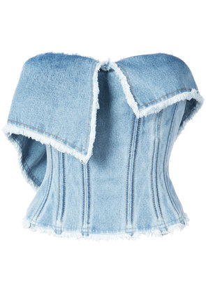 Natasha Zinko denim bustier top - Blue