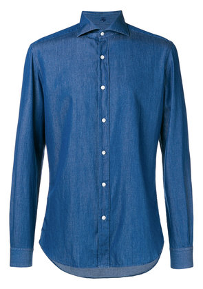 Fay denim button-down shirt - Blue