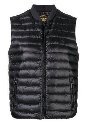 Polo Ralph Lauren logo embroidered padded gilet - Black