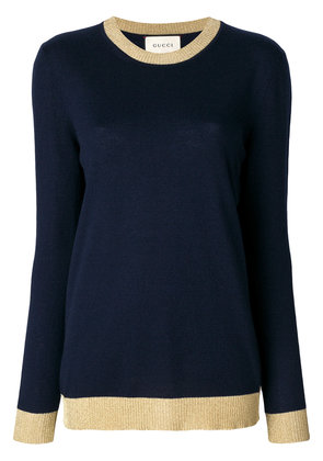 Gucci perfectly fitted sweater - Blue