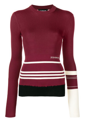 Calvin Klein 205W39nyc ribbed sweater - Red