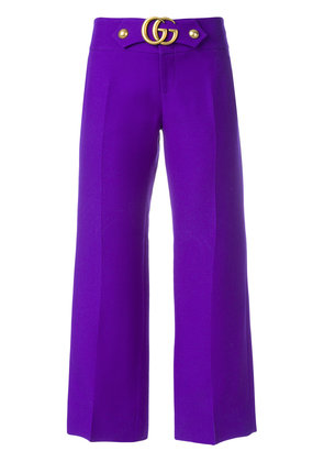 Gucci GG Marmont flares - Pink & Purple