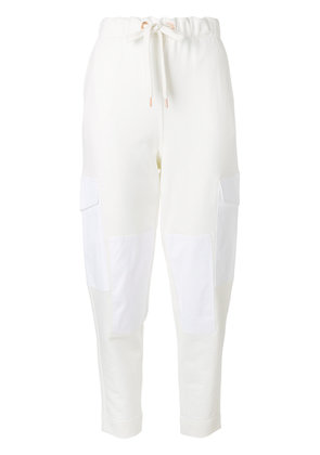 See By Chloé cargo track pants - White