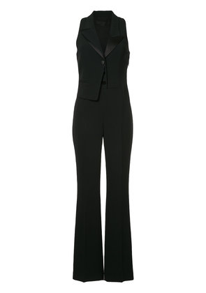 Alexander Wang split lapel sleeveless tuxedo jumpsuit - Black