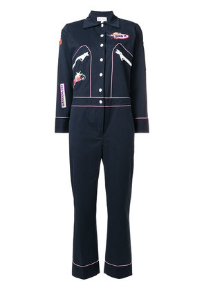 Mira Mikati Patch Mechanics jumpsuit - Blue