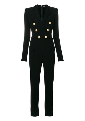 Balmain double breasted jumpsuit - Black