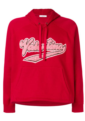 Valentino cropped hoodie - Red