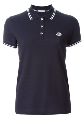 Moncler piped collar polo shirt - Blue