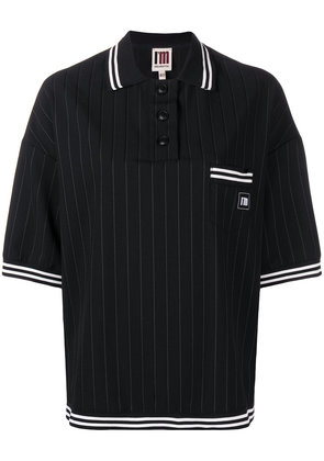 I'M Isola Marras pinstripe polo shirt - Black