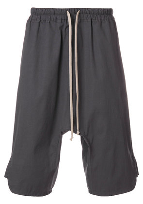 Rick Owens dropped crotch track shorts - Grey